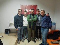 Con Alberto Calero, Juan Manuel Labrador y Guillermo Pérez