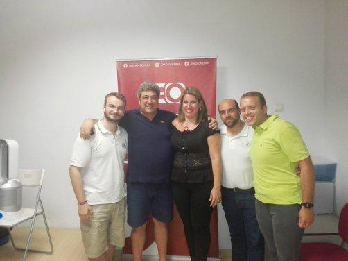 Con LuisMi González, LuisMi Fajardo y Gracia Paula Puertas