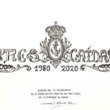 Logo 40 aniversario Tres Caídas